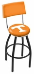 University of Tennessee 25'' Black Wrinkle Finish Swivel Counter Height Stool with Cushioned Back [L8B425TENNES-FS-HOB]