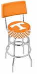University of Tennessee 25'' Chrome Finish Swivel Counter Height Stool with Double Ring Base [L7C425TENNES-FS-HOB]