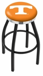 University of Tennessee 25'' Black Wrinkle Finish Swivel Backless Counter Height Stool with Chrome Accent Ring [L8B2C25TENNES-FS-HOB]