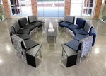 UNO Series Circle Package - Blue Jay Navy Chairs and Asian Night Top Table [PKG-LNGE-04-0001-MFO]