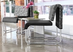 UNO Series Double Package - Nickel Black Chairs and Asian Night Top Table [PKG-LNGE-05-0004-MFO]