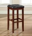 Upholstered Square Seat Bar Stool in Vintage Mahogany Finish with 29'' Seat Height - Set of 2 [CF500529-MA-FS-CRO]