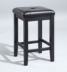 Upholstered Square Seat Bar Stools 24'' - Set of 2 [CF500524-BK-FS-CRO]
