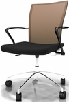 Valore Height Adjustable Task Chair with Black Fabric Seat- Orange Mesh Back [TSH3BO-FS-MAY]