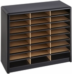 Value Sorter® Twenty-Four Compartment Literature Sorter and Organizer - Black [7111BL-FS-SAF]