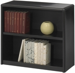 ValueMate® 28'' H Economy Two Shelf Bookcase - Black [7170BL-FS-SAF]