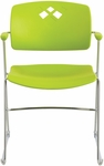 Veer™ 21.25'' W x 22'' D x 32.5'' H Flex Frame Stack Chair - Set of Four - Grass [4286GS-SAF]