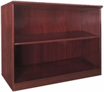 Napoli and Corsica 2 Shelf Bookcase - Sierra Cherry on Cherry Veneer [VB2CRY-FS-MAY]