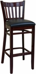 Vertical Back Wood Barstool - Grade 5 Vinyl [900-BS-GR5-SAT]