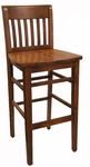 Vertical Ladder Back Barstool [8233B-HND]