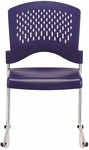 Aire S4000 18'' W x 23'' D x 34'' H Vertical Perforated Back Plastic Stack Side Chair - Navy Blue [S4000-NAVY-FS-EURO]