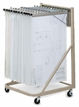 Vertical File Rolling Stand with Hangers - Sand Beige [9329HD5-FS-MAY]