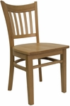 Vertical Slat Chair with Wood Seat in Natural Finish [8242-N-N-HND]