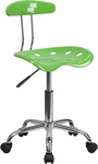 Vibrant Spicy Lime and Chrome Swivel Task Chair with Tractor Seat [LF-214-SPICYLIME-GG]