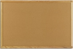 Vinyl Covered Bulletin Board with Wood Trim - 24''H x 36''W [WF-203-MSH]
