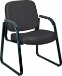 Anti-Microbial and Anti-Bacterial Vinyl Guest and Reception Chair with Arms - Black [403-VAM-606-MFO]