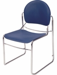 Virtuoso Series Steel Frame Armless Stack Chair - 20.5''W x 21.25''D x 33.75''H [2945-VCO]