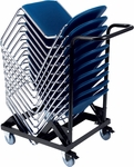 Virtuoso Stack Chair Cart - 25.75''W x 45.5''D x 44.63''H [HCT2945-VCO]