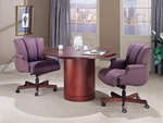 Vitality Transitional Round Conference Table with Cylinder Base [V-TR42C-FS-HPF]
