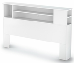 Vito Collection Full/Queen Bookcase Headboard (54/60'') Pure White [3150092-FS-SS]