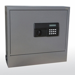 20.63'' W x 5.25'' D x 19.5'' H Wall Mount Laptop Safe and Security Cabinet - Charcoal [WLAP2016-CHC-EEL]
