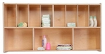 Wall Mountable Wall Organizer Storage Unit with Eleven Individual Compartments - Assembled - 48''W x 12''D x 25''H [21175-WDD]