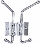 6.5'' W x 3'' D x 7'' H Wall Rack with Two Coat Hooks - Set of Twelve - Chrome [4160-FS-SAF]