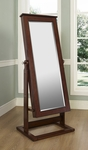 Walnut Cheval Jewelry Wardrobe [597-514-FS-PO]
