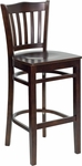 Walnut Finished Vertical Slat Back Wooden Restaurant Barstool [BFDH-8242WW-BAR-TDR]