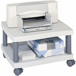Wave 20'' W x 17.5'' D x 11.5'' H Mobile Under Desk Printer Stand - Light Gray [1861GR-FS-SAF]