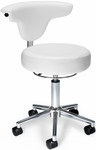 Anatomy Anti-Microbial and Anti-Bacterial Vinyl Chair - White [910-WHITE-FS-MFO]