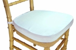 Legacy Series 2'' Thick Chiavari Chair Cushion with Hook and Loop Fasteners - White [121101-MES]