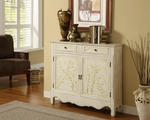 White Hand Painted 2-Door Console [246-332-FS-PO]