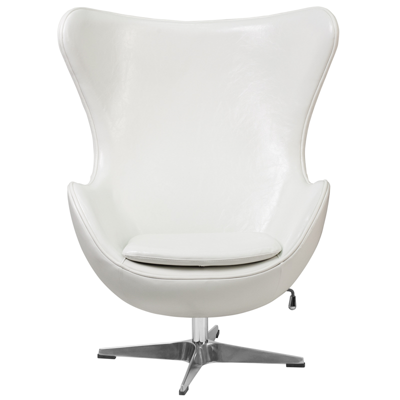 white leather egg chair with tilt lock mechanism zb 10 gg by flash furniture. Black Bedroom Furniture Sets. Home Design Ideas