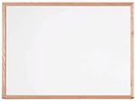 White Porcelain Enamel Marker Board with Red Oak Frame - 36''H x 48''W [WOS3648-AA]