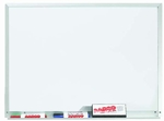 White Porcelain Marker Board with Aluminum Frame - 18''H x 24''W [WDS1824-AA]
