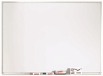 White Porcelain Marker Board with Aluminum Frame - 36''H x 48''W [WDS3648-AA]