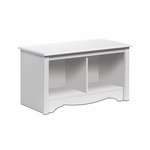 Twin 36.25''W Cubbie Bench with 2 Open Storage Compartments - White [WSC-3620-FS-PP]