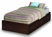 Willow Collection Twin Mates Bed (39'') Havana