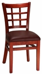 Mahogany Window Back Wood Chair [8290-HND]