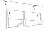 Wire Partition Hangers for Reveal™ Displays - Set of Two - Black [5661NC-FS-SAF]