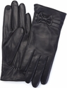 Women's Large Cellphone Tablet Touchscreen Gloves - Lambskin Leather - Black