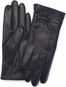 Women's Small Cellphone Tablet Touchscreen Gloves - Lambskin Leather - Black