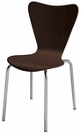 3800 Series Bentwood Stacking Armless Cafe Chair with Chrome Frame - Espresso [3888-ES-IFK]