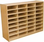 Storage Unit with (32) 3'' Letter Tray Slots - Fully Assembled on Casters - 48''W x 15''D x 38''H [17489-WDD]
