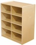 Storage Unit with (8) 5'' Letter Tray Slots - Fully Assembled on Casters - 24''W x 15''D x 30''H [18249-WDD]