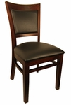 Wood Upholstered Back Chair [8279-HND]