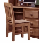 Rustic Style Solid Pine Chair - Mahogany Stain [31600-FS-CHEL]