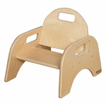 Woodies Stackable Tot Chair with Convenient Carrying Handle - Assembled - 16.75''W x 12.5''D x 13.63''H [80500-WDD]