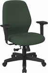 Work Smart 2-to-1 Synchro Tilt Managers Chair with 2-Way Adjustable Soft Padded Arms [3121-FS-OS]